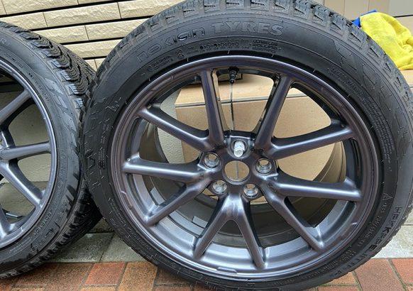 テスラモデル3のジャッキアップとタイヤ交換